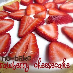 Low Fat No-Bake Strawberry Cheesecake Recipe